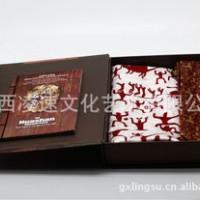 广西礼品  花山岩画真丝方巾+花山领带套装礼盒 壮族 文化 纪念