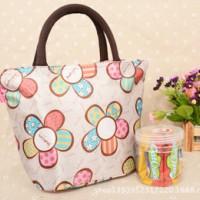 新款 韩版加厚碎花饭盒袋 便当包 帆布手拎袋 午餐袋便当袋