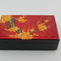 厂家直销 礼品盒收纳盒复古包装盒 红色婚庆漆器首饰珠宝盒