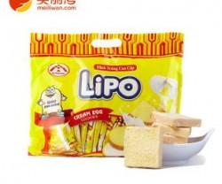 越南特产 LIPO简装系列面包干正规进
