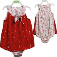 原单外贸 红色圣诞哈裙 连身衣、爬服 婴幼儿服装