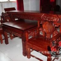 F530 缅甸花梨木灵芝中堂椅2.7米条案四件套 独板好料古典家具