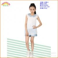 小博王8A085(白色)女大童套裙女套裙女大童套装女套装