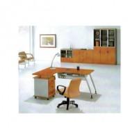 生产供应桂林良朋密度板办公桌 办公家具桌