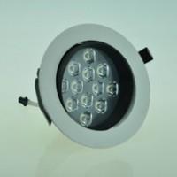 2014新款COB天花灯刀片防炫光烤漆系列暖色射灯 12W大功率筒灯