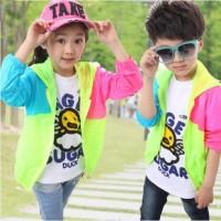 2014夏季新款韩版男女童装 连帽防晒衣服 外贸童装 夏季童装