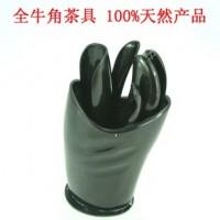 批发天然黑色牛角功夫茶具五件套 JZP424纯手工打造环保茶具
