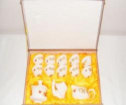 礼品茶具 青花玉瓷 整套功夫陶瓷茶