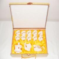 礼品茶具 青花玉瓷 整套功夫陶瓷茶具套装 可印LOGO 厂家批发特价