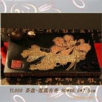 中式新古典家居匠心艺术摆件 茶具 茶盘-YL050莲蕊有香