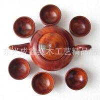 红木工艺品 木制礼品 红木茶具 老挝红酸枝茶壶套装