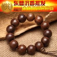 CX101 越南天然金丝沉香佛珠手链 男女款手串木念珠 厂家批发