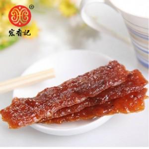 宏香记广式长条猪肉脯 风干猪肉干 10g小包装 精选优质猪肉干