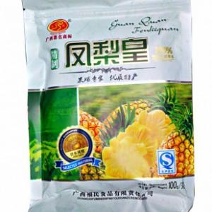 优质果脯蜜饯 冠泉100克 凤梨皇 纯菠萝果肉保证营养健康美味