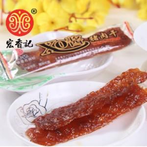 宏香记 XO酱猪肉干 自然派炭烧猪肉条 猪肉脯休闲零食 10g小包装