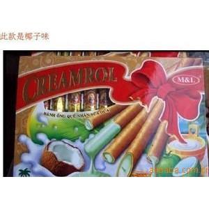 越南特产美莲椰子黄金蛋卷饼干20盒4