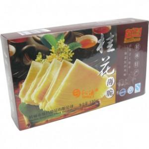 【香不见花】金顺昌120G盒装休闲桂花薄脆饼干 淡雅香味 从容品味