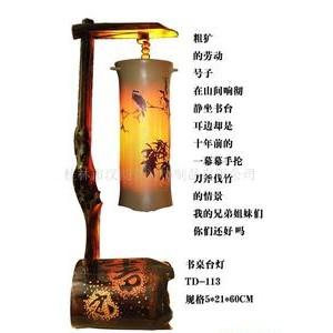 供应小夜灯纯手工环保工竹艺灯 创意中式仿古小台灯 礼品台灯