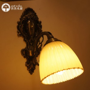 欧式铁艺壁灯 楼梯阳台墙壁灯 纯人工制作 酒吧咖啡厅照明灯饰