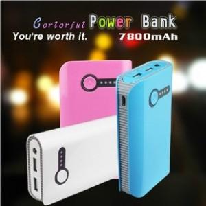 钱包创意可爱移动电源7800毫安苹果4S/5小米手机通用充电宝带照明