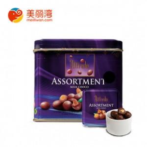 马来西亚特产 爱芙果仁牛奶巧克力 罐装105g 特色礼品 进口批发