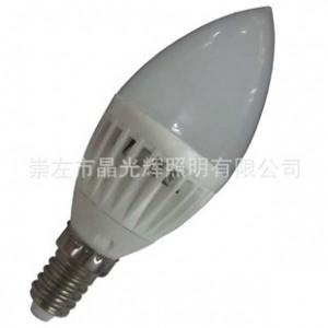 3W LED 塑料 陶瓷 蜡烛灯  AC85-265V