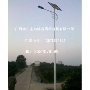 新农村太阳能路灯杆供应【广西南宁宏励体育设施有限公司】