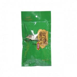 鳄鱼盟展鳄鱼熟肉干28g 山椒味 休闲