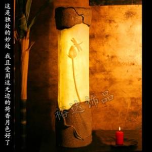 中式古典创意台灯 酒店过道照明灯 客房节能灯 卧室床头灯D124
