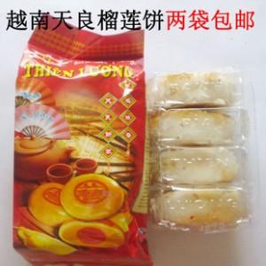 越南特产榴莲饼 越南天良5号榴莲饼400克  2袋包邮