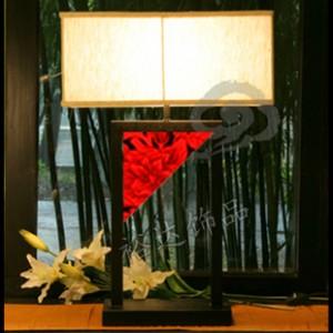中山古镇风格创意灯饰灯具 布艺灯罩 酒店宾馆照明飘逸台灯D019