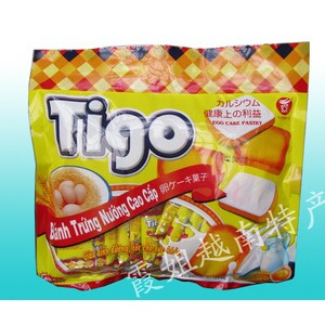 进口食品 批发供应 越南特产 正品文庙TIGO白巧克力面包干300g