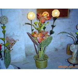 供应植物编工艺品照明灯