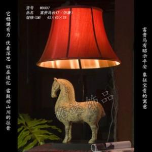 中式仿古创意灯饰 家居配饰富贵马台灯WD007 酒店大厅吊灯 照明灯