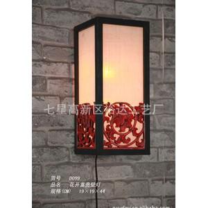 批发中式新古典酒店客房创意台灯 过道照明灯 花开富贵壁灯D099