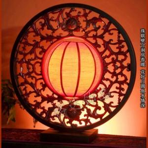 爆款仿古镂空创意灯饰 中国红台灯 家居装饰灯 古典照明灯D029