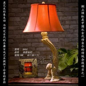 中式新古典 人物杂技创意台灯 商务酒店客房仿古照明灯D052