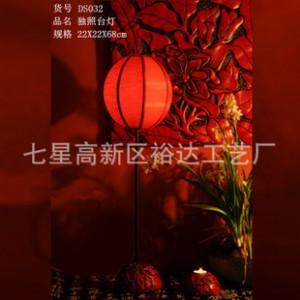 新中式古典树脂布艺灯 书房护眼台灯 古镇庭院过道照明灯DS032