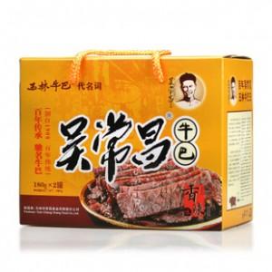 广西玉林特产 吴常昌牛巴礼盒 牛肉干美食180g*2罐(360g)大量批发
