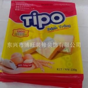 越南特产批发 TIPO 220克 白巧克力面包干 正品