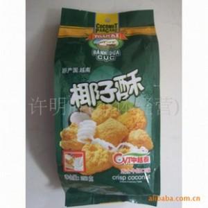 批发供应越南特产带中文标签椰子酥 越南泉记椰子酥150克(图)