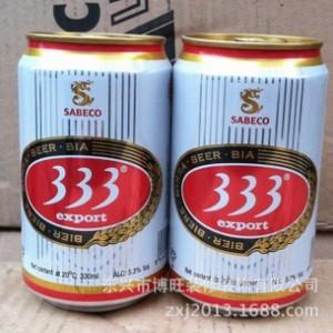 供应越南西贡333啤酒 夜场特供 24听一箱 小麦酿造好喝有营养