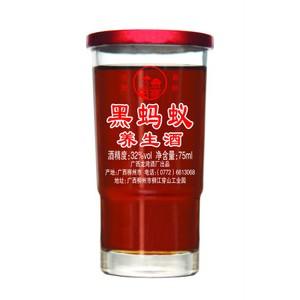 古岭龙集团 75ml32°黑蚂蚁养生酒 小瓶杯装 动物加植物 更劲一步