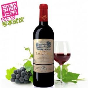 法国原装进口红酒拉芙嘉干红葡萄酒波尔多AOC赤霞珠正品批发包邮