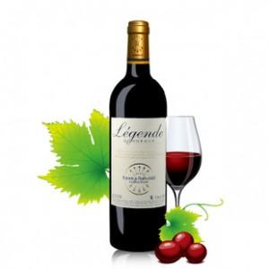 法国进口红酒 拉菲传奇2008干红葡萄酒 波尔多AOC 庄园赤霞珠批发