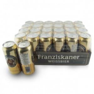 正品原装进口德国啤酒慕尼黑教士Franziskaner纯小麦啤酒500ML*24
