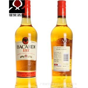洋酒 原装进口 百加得151朗姆酒 BACARDI  75.5度 鸡尾酒调酒