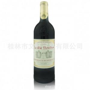 法国正品原装进口拉维亭超级波尔多干红葡萄酒送精美礼品红酒杯