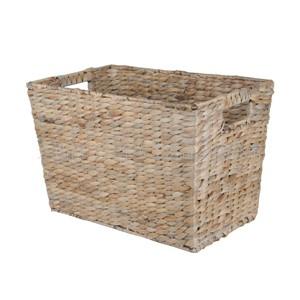 厂家供应水葫芦编织脏衣篮、收纳篮,收纳盒,杂志篮