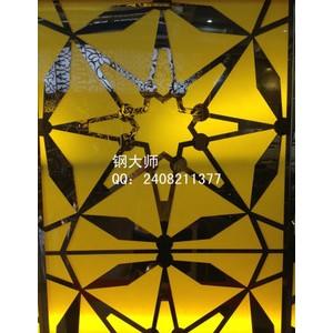 激光镂空板 不锈钢 钢大师 透光板 彩钢板 金属建材加工 花纹板